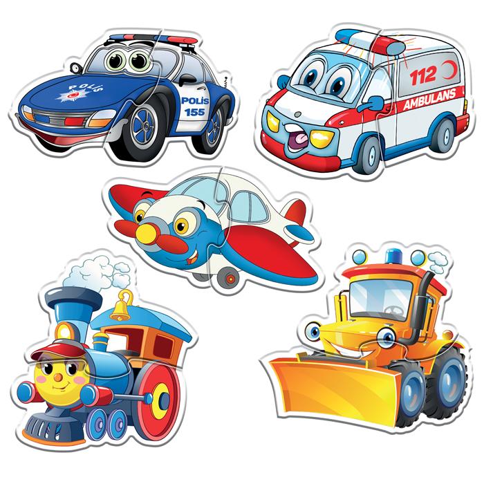 Baby Puzzle Sevimli Araçlar
