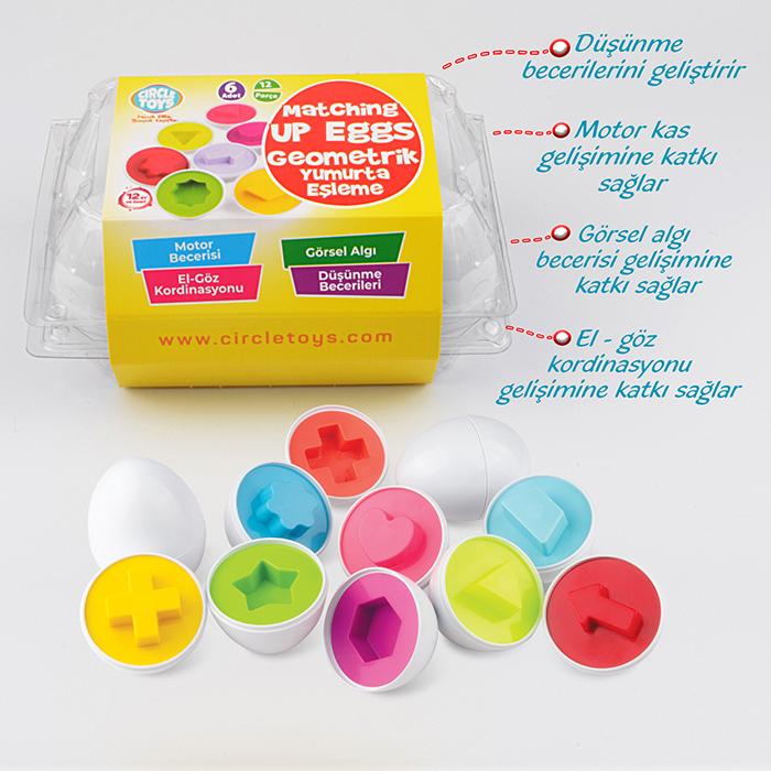 Gemometrik Yumurta Eşleme 6 Adet