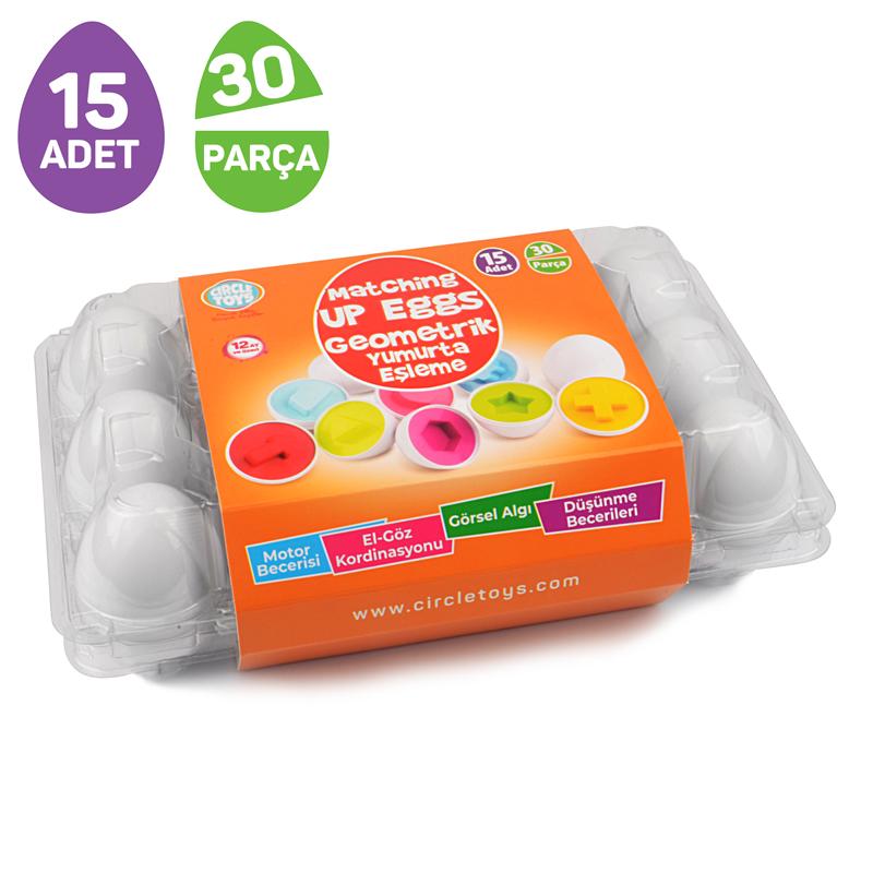 Gemometrik Yumurta Eşleme 15 Adet